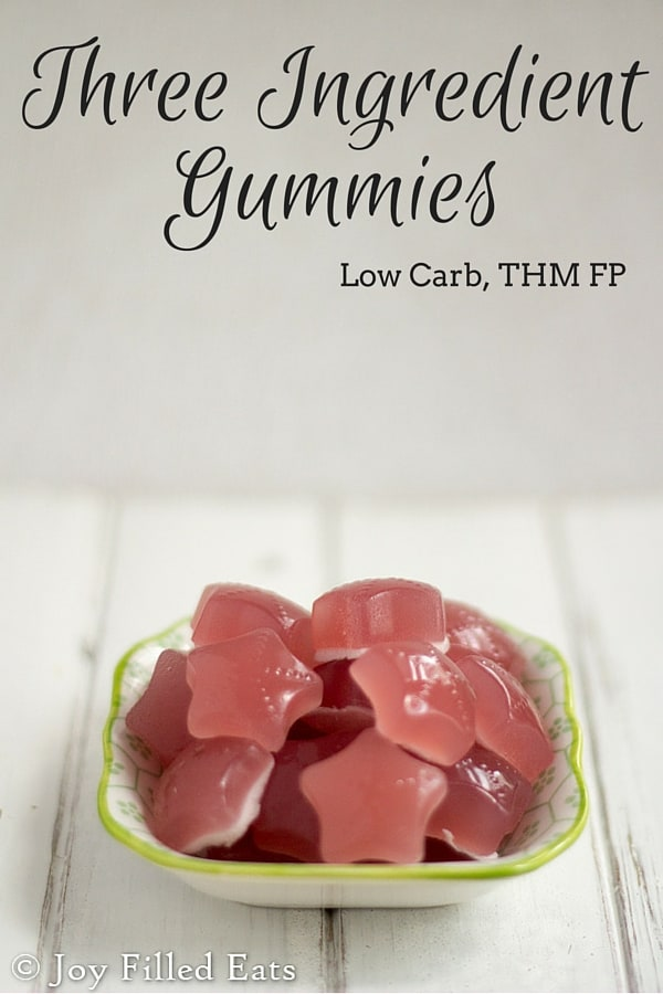 pinterest image for three ingredient gummies