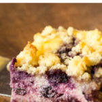 pinterest image for lemon blueberry cheesecake crumb bars