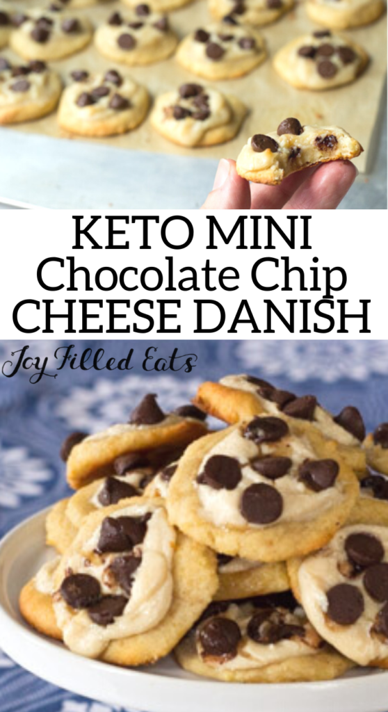 pinterest image for mini chocolate chip cheese danish pastry