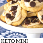 pinterest image for mini chocolate chip cheese danish pastry