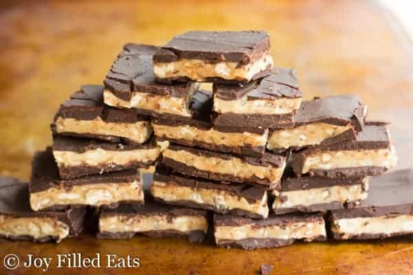 pyramid pile of buttery walnut toffee