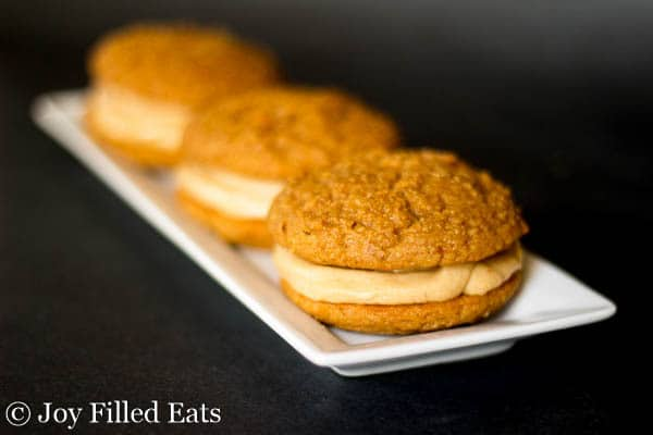 Peanut Butter Whoopie Pies - Low Carb & Grain Free