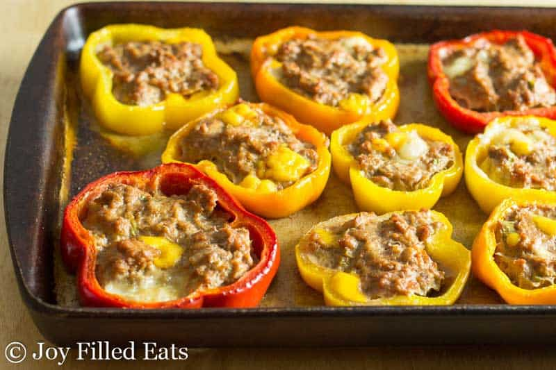 Taco Stuffed Pepper Rings - Low Carb, Grain Free, THM S