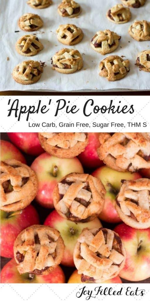 pinterest image for 'apple' pie cookies