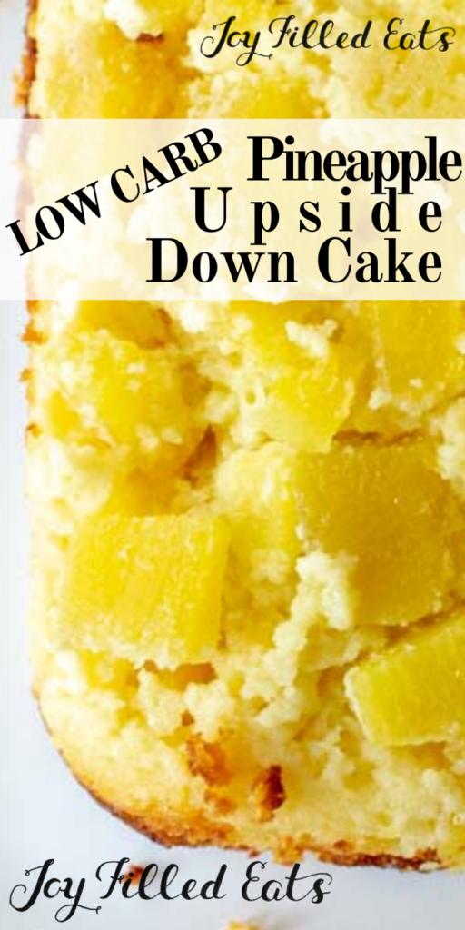 pinterest image for pineapple upside down cake