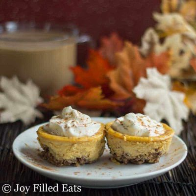Keto Pumpkin Cheesecake with Pecan Crust Low Carb THM