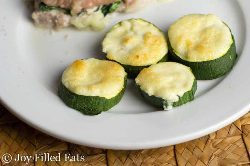 Garlic Parmesan Zucchini - Low Carb, Grain Free, THM S