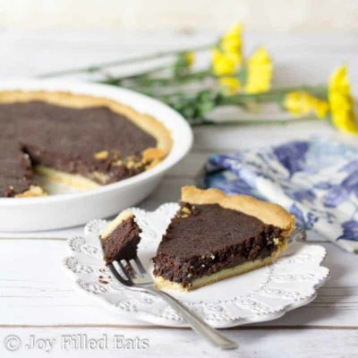 Fudge Brownie Pie – Low Carb, Keto, THM S