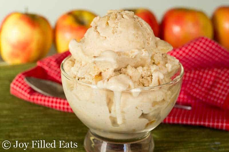 Apple Pie Ice Cream - Low Carb & Sugar Free