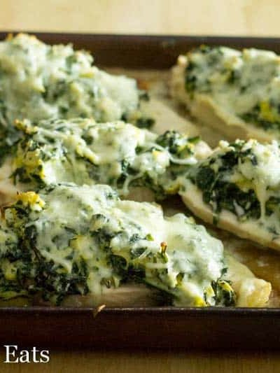 Lazy Spinach Artichoke Chicken Breasts – Low Carb