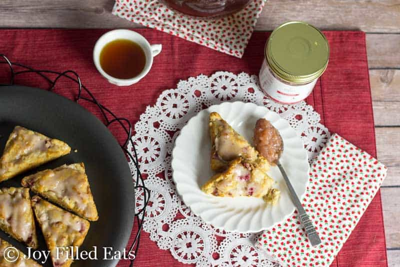 Strawberry Lemon Tea Cakes - Low Carb, Grain Free, Sugar Free, THM S