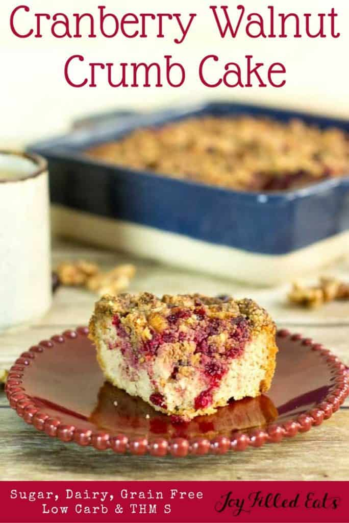 pinterest image for cranberry walnut crumb cake