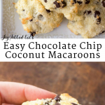 pinterest image for easy chocolate chip coconut macaroons