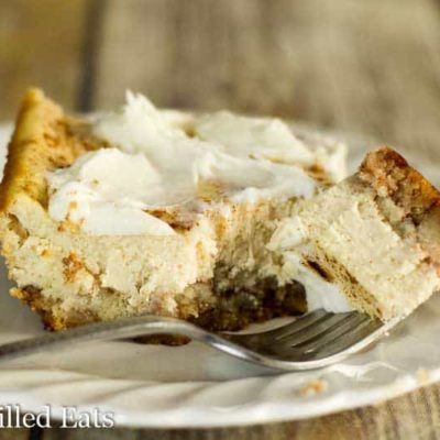 Cinnamon Bun Cheesecake Bars -Low Carb, THM S