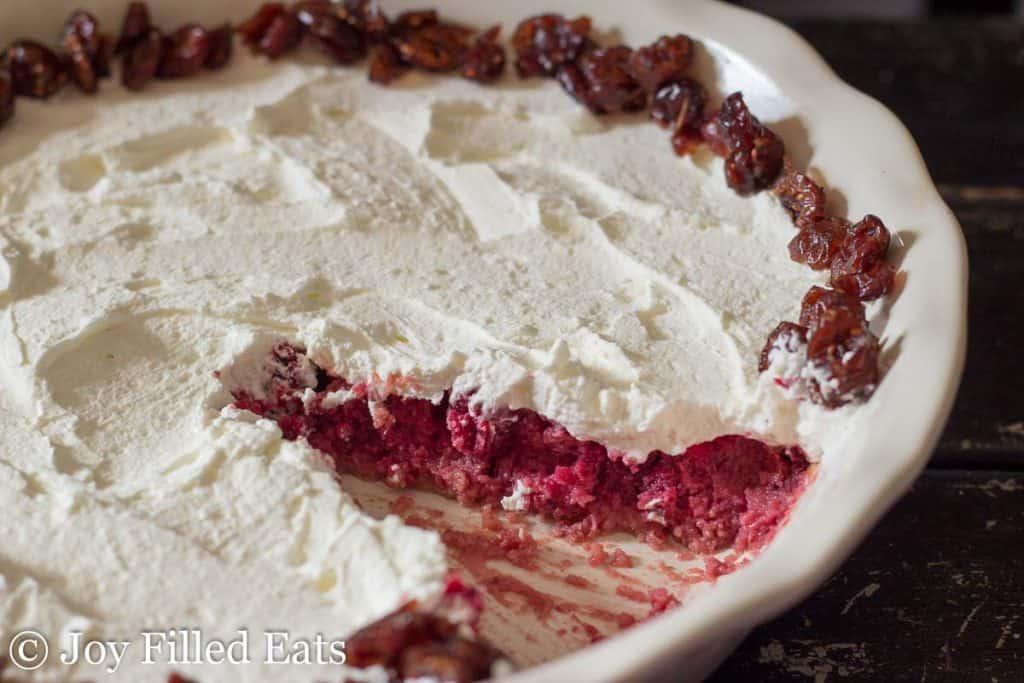 Orange Cranberry Custard Pie - Low Carb, Grain Free, Gluten Free, Nut Free, THM S