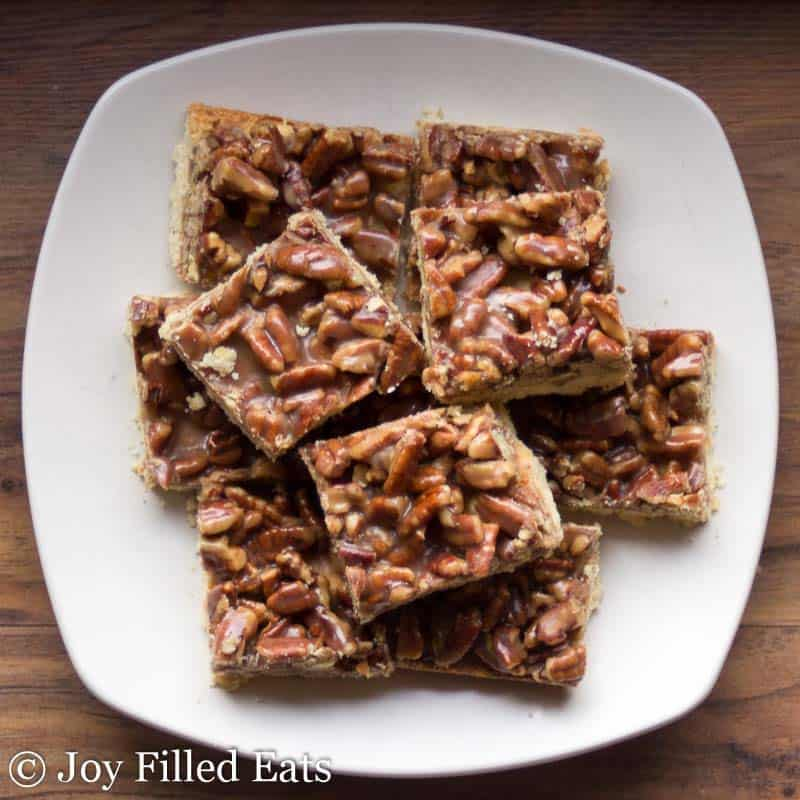 Pecan Praline Bars - Low Carb, Sugar Free, Grain Free, THM S
