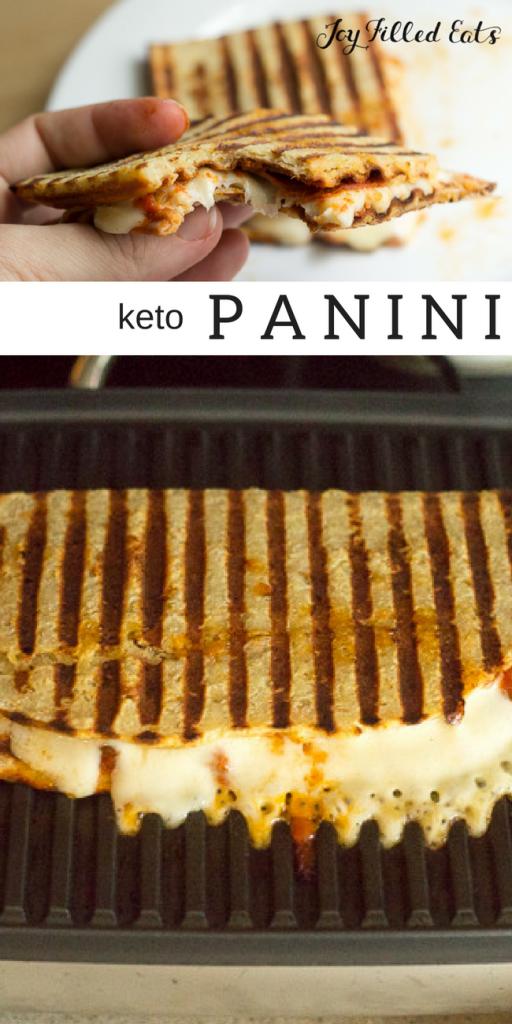 pinterest image for keto panini