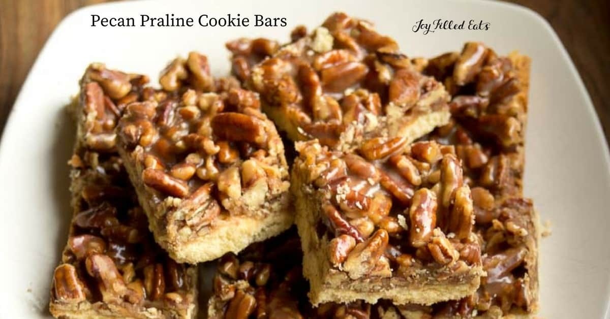 Pecan Praline Cookie Bars - Joy Filled Eats