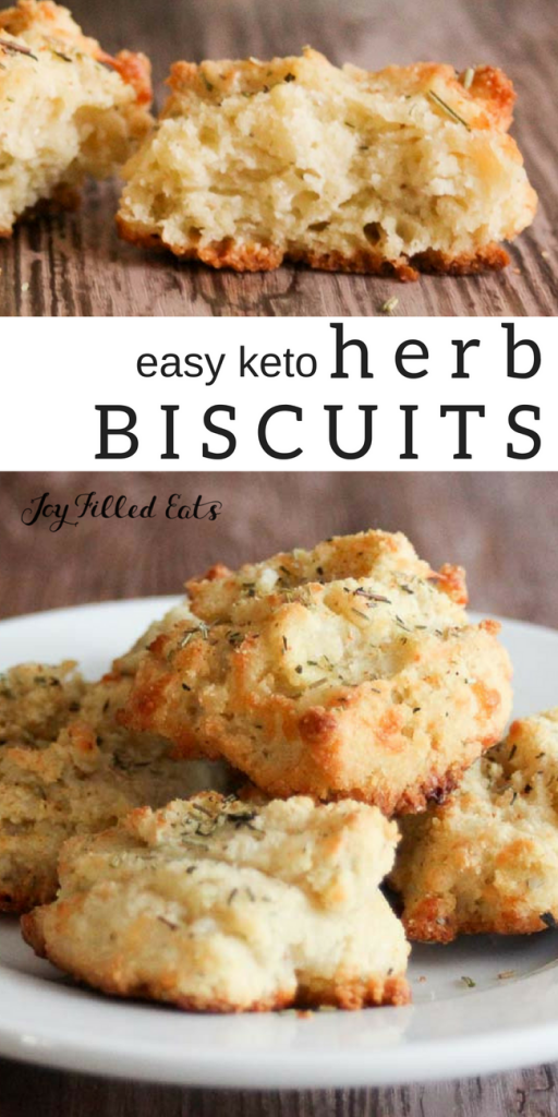 pinterest image for keto herb biscuits