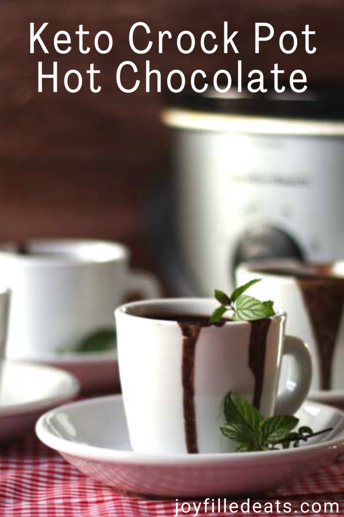 pinterest image for crock pot peppermint hot chocolate
