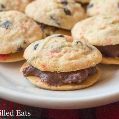 Peppermint Fudge Sandwich Cookies