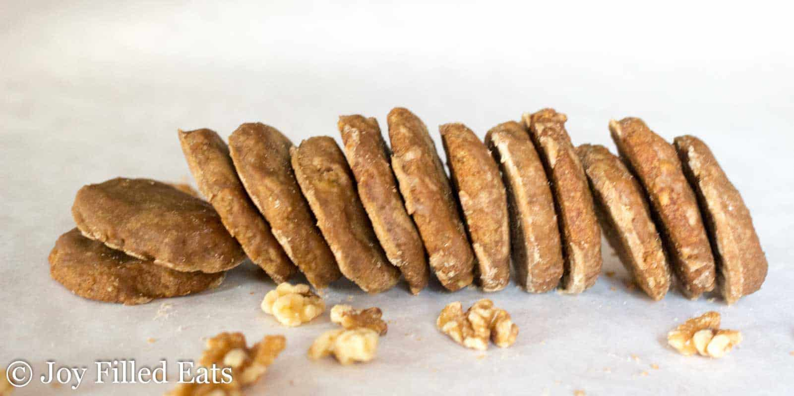 Glazed Maple Walnut Cookies - Low Carb, Grain/Sugar/Egg Free, THM S