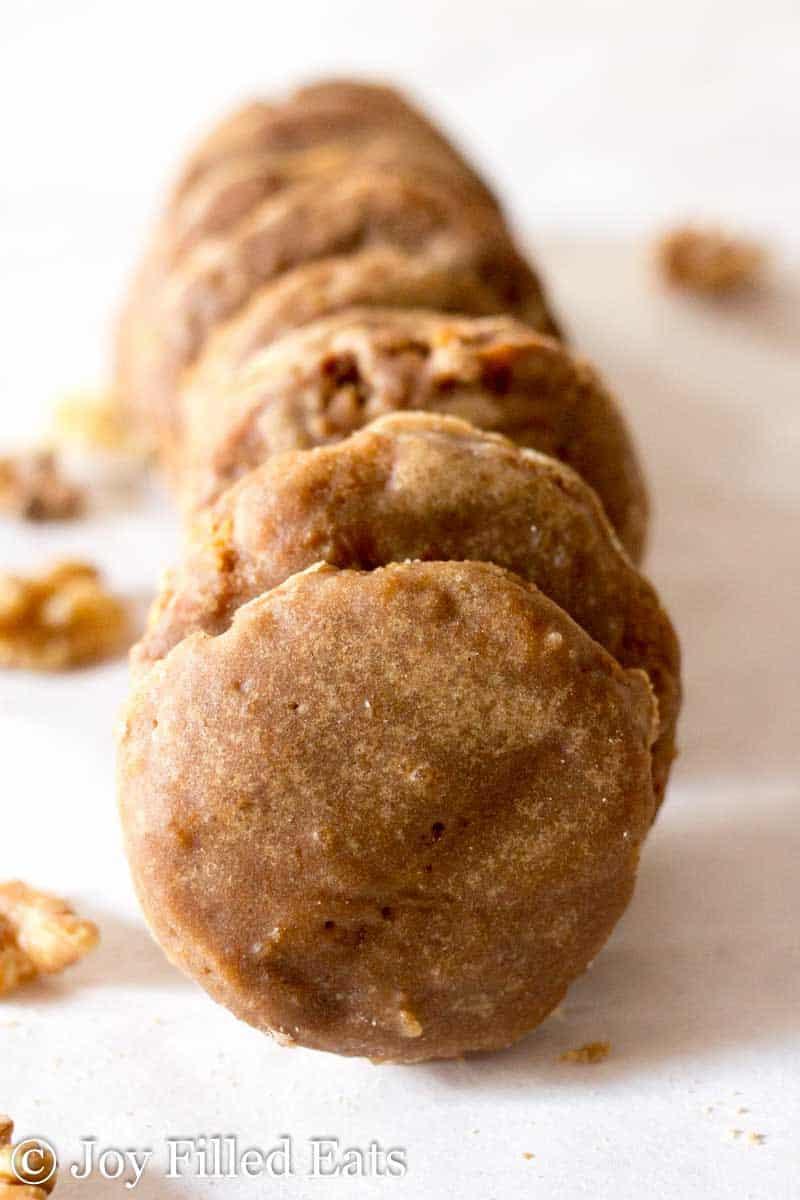 Glazed Maple Walnut Cookies - Low Carb, Grain/Sugar/Egg Free, THM S