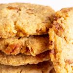 pinterest image for butter pecan cookies