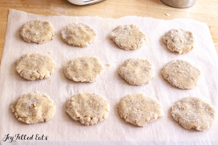 Butter Pecan Cookies on a parchment paper sheet