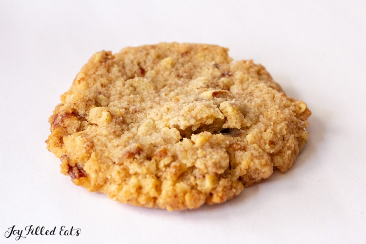 Close up of one of the Butter Pecan Cookies
