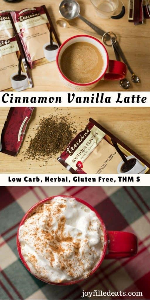 pinterest image for cinnamon vanilla latte