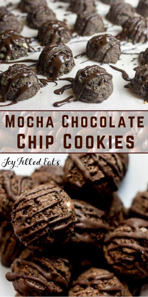 pinterest image for mocha chocolate chip cookies