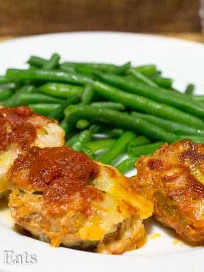 Mini Mozzarella Stuffed Italian Meatloaf Low Carb Keto