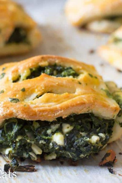 Spinach & Feta Pastries – Low Carb, Grain Free, THM S