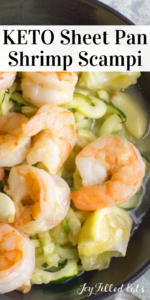 pinterest image for keto shrimp scampi