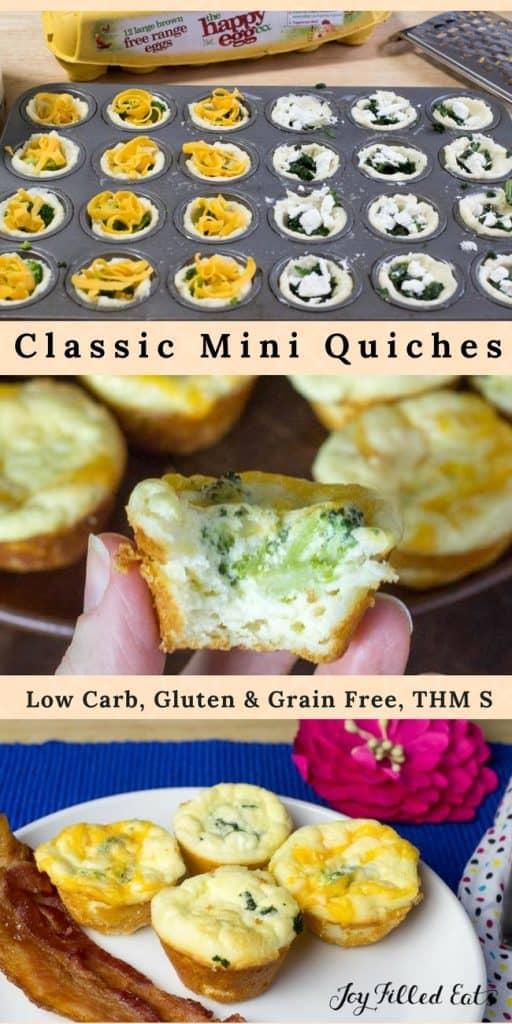 pinterest image for mini quiche recipe