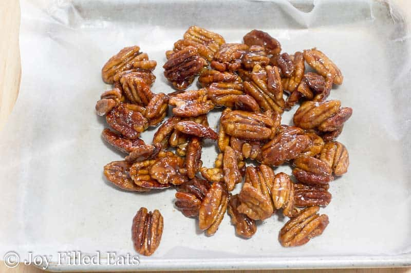 3 Ingredient Stovetop Glazed Pecans - Low Carb, Sugar Free, THM S