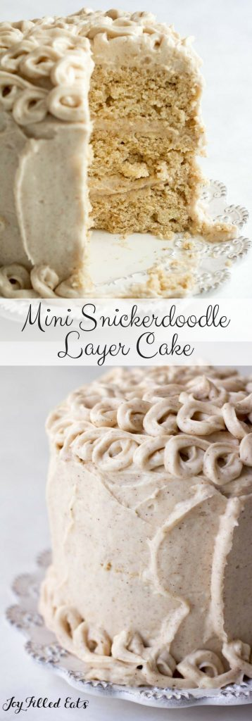 pinterest image for mini snickerdoodle layer cake