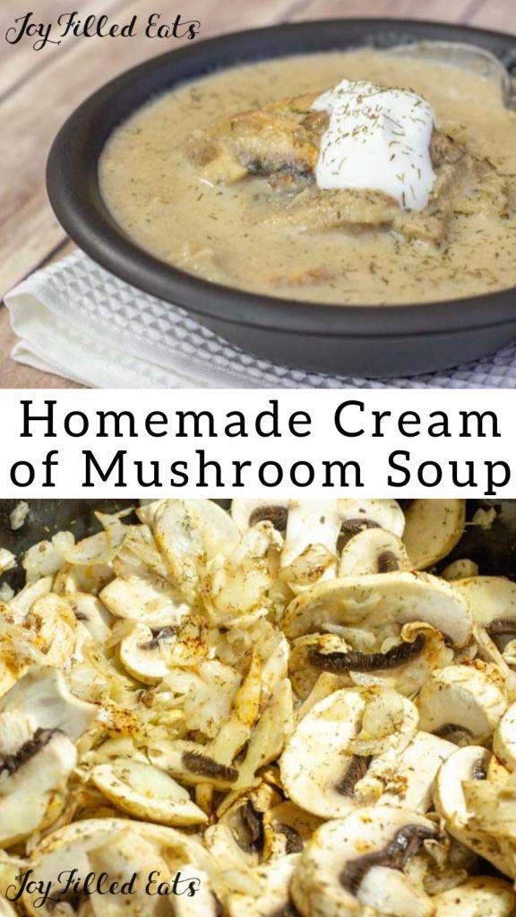 pinterest image for homemade cream of mushroom soup