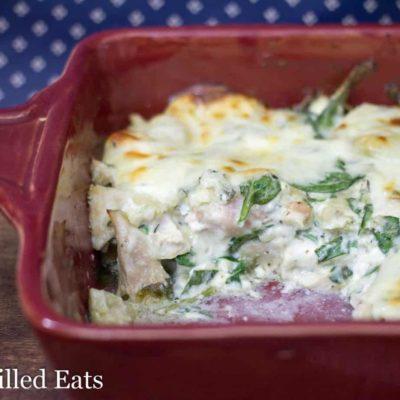 Spinach & Artichoke Chicken Casserole