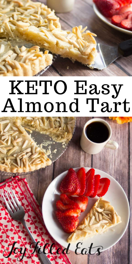pinterest image for easy almond tart