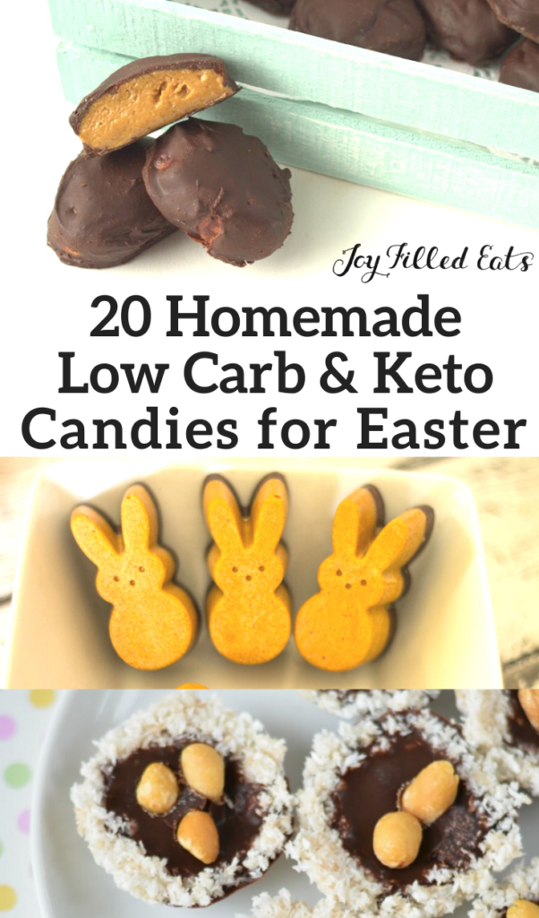 pinterest image for sugar free Easter candies