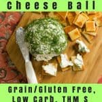 pinterest image for feta & dill cheese ball