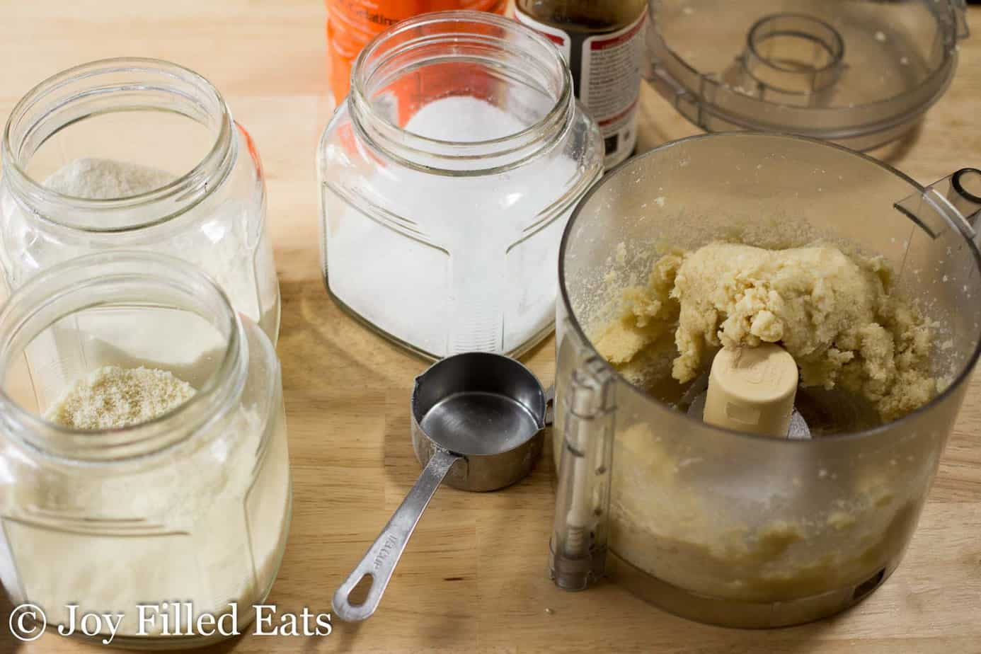 Food processor with cookie dough
