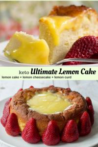 pinterest image for keto ultimate lemon cake