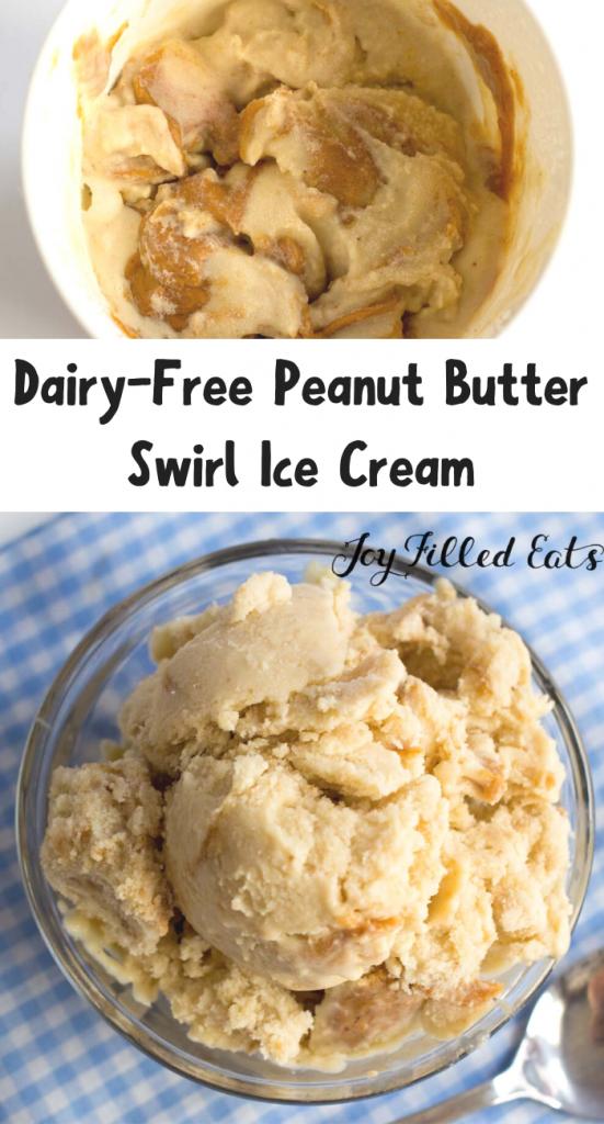 pinterest image for Peanut Butter Ice Cream