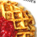 pinterest image for vanilla waffles with almond flour