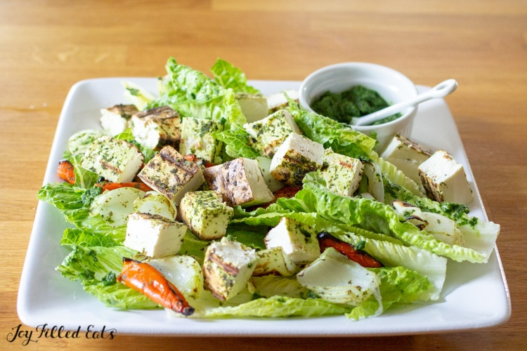Grilled Paneer Salad Low Carb Gluten Free Keto Joy Filled Eats