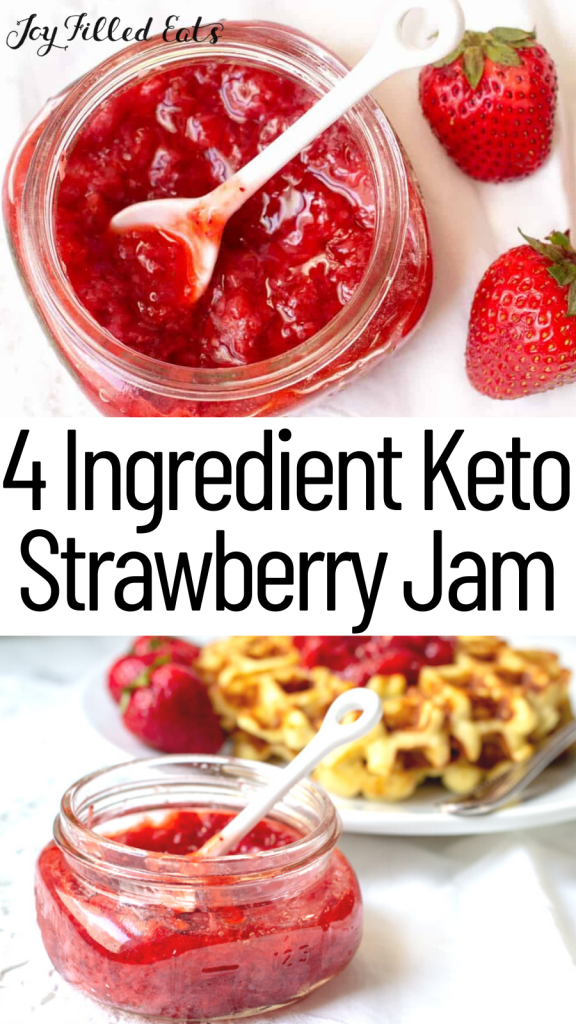 pinterest image for Keto Strawberry Jam