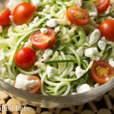 Zucchini Salad with Lemon & Feta – Low Carb, Keto